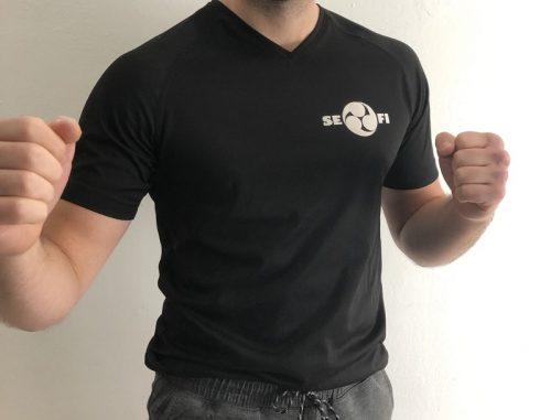 SEFI sport t-shirt voorkant zwart